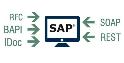SAP interface RFC, BAPI, IDOC, SOAP and REST