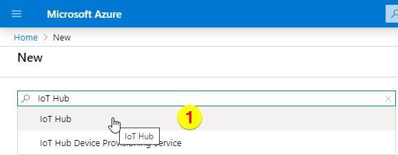 New ressource IoT Hub