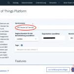 IBM IoT Watson Ressource benennen