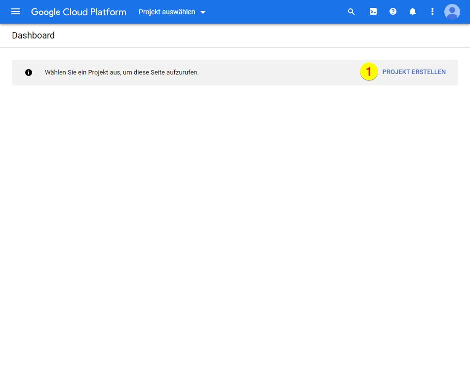 Google Cloud Platform – Projekt erstellen