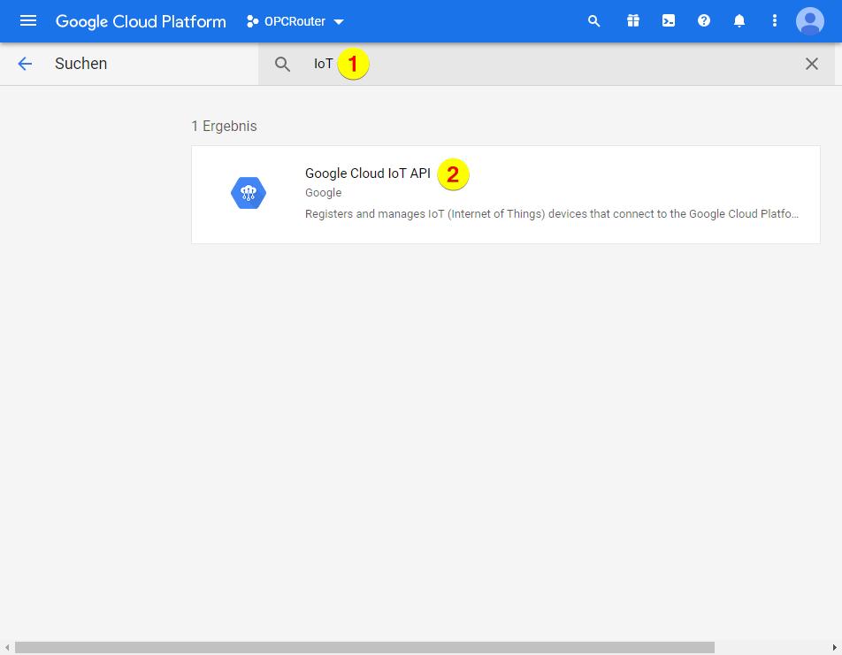Google Cloud Platform – Google Cloud IoT API