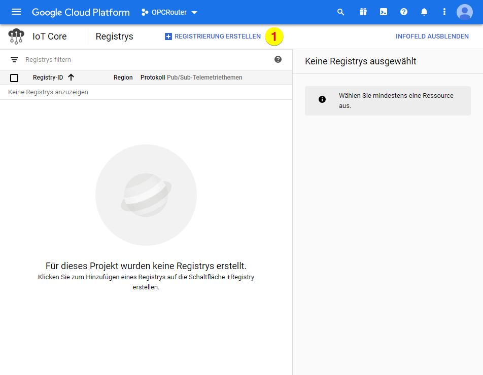 Google Cloud Platform – Registrierung erstellen