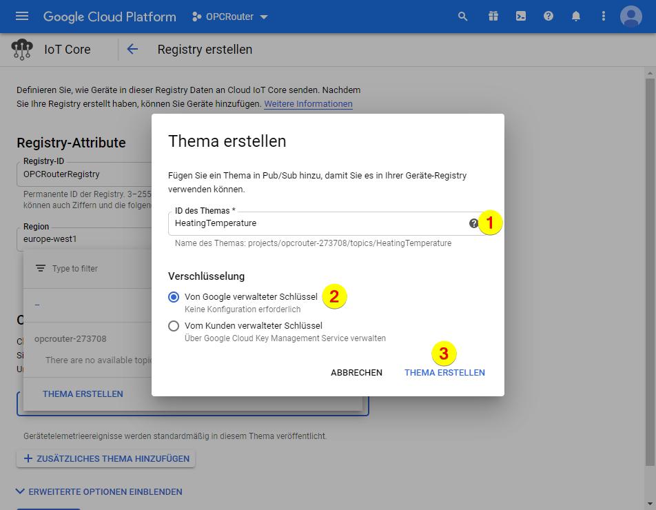 Google Cloud Platform – Thema ID
