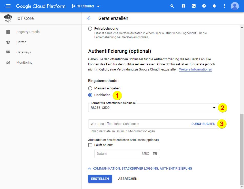 Google Cloud Platform – Authentifizierung