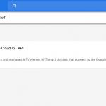 Google Cloud IoT API Search