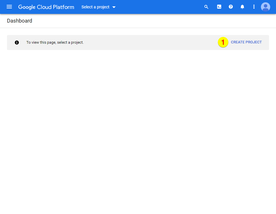 Google Cloud Platform – Create Project