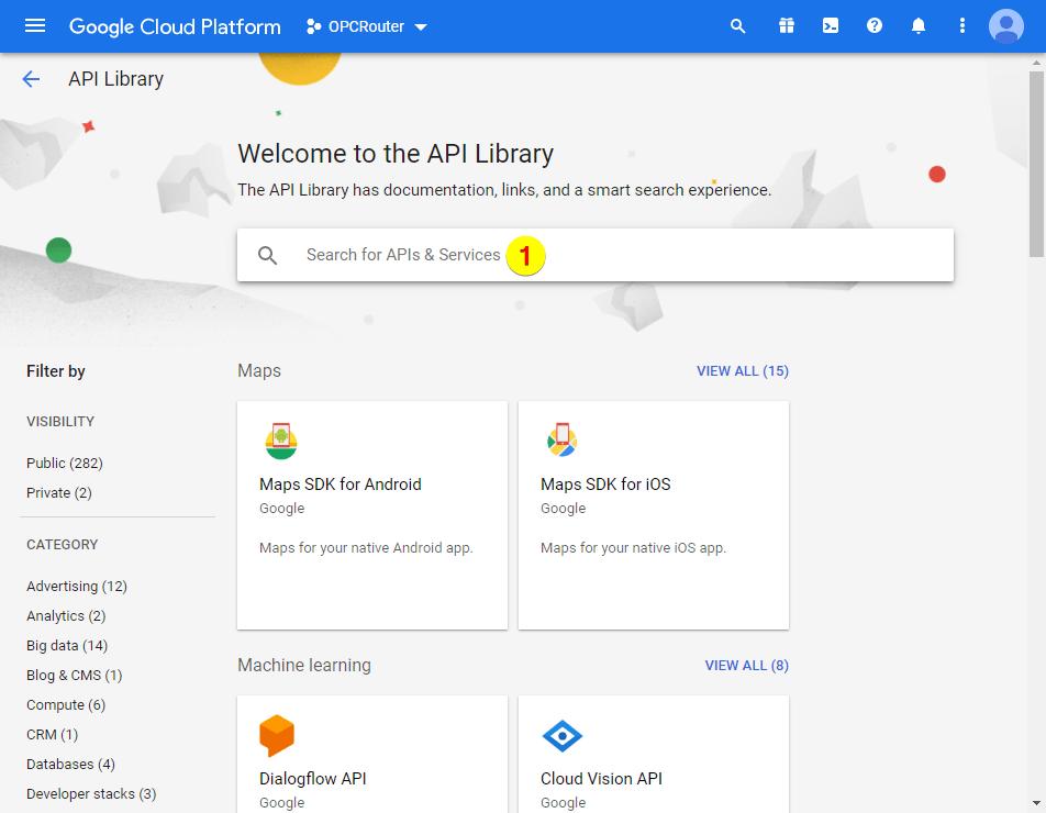 Google Cloud Platform – API-Library