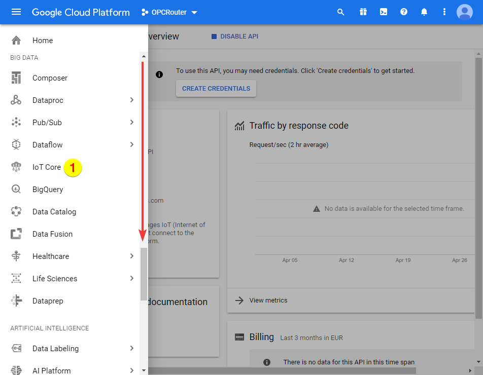 Google Cloud Platform – IoT Core