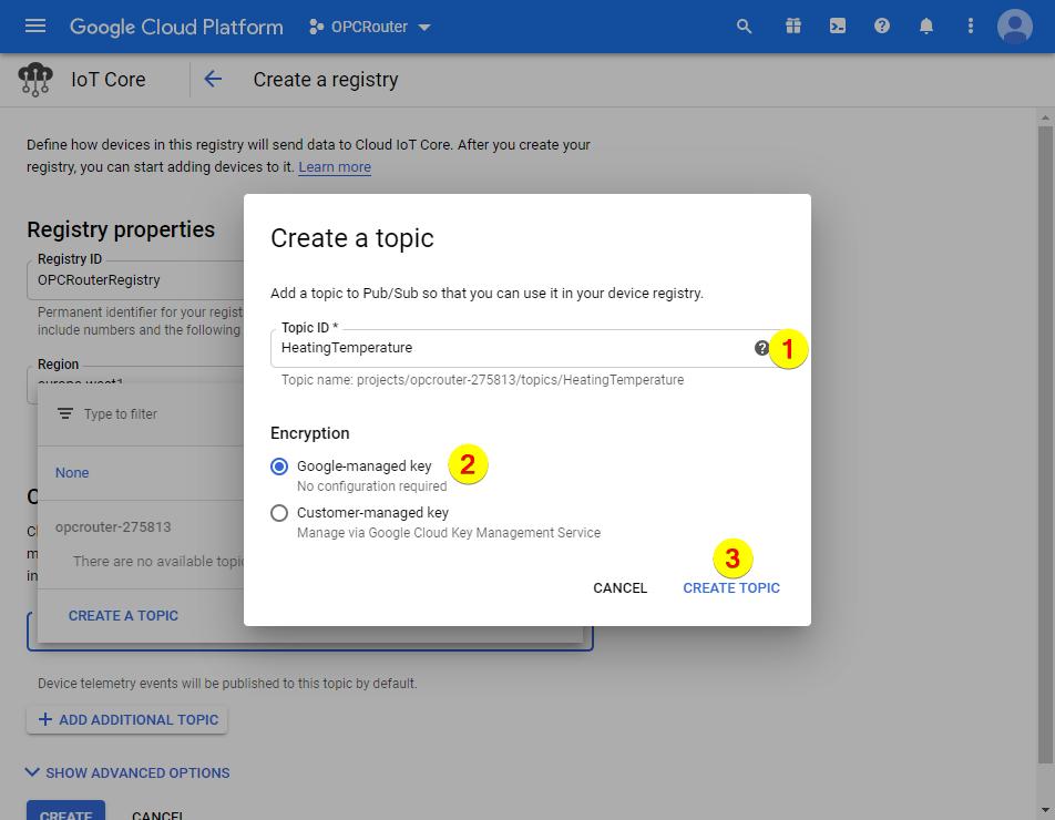 Google Cloud Platform – Topic ID