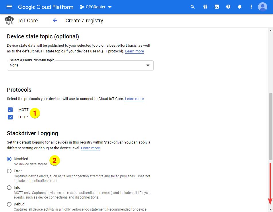 Google Cloud Platform – MQTT and HTTP