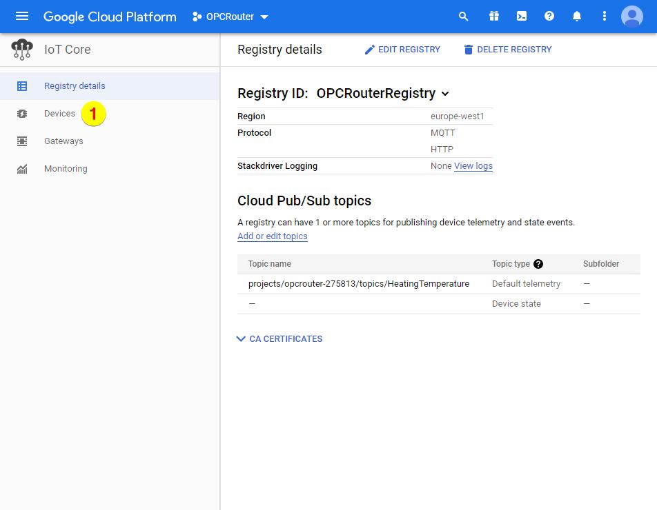 Google Cloud Platform – Devices