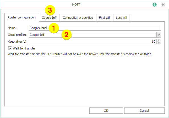 OPC Router – Router configuration