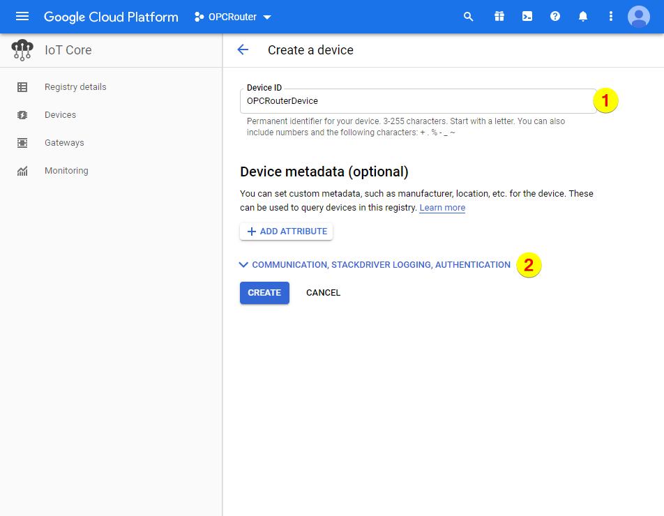 Google Cloud Platform – Device ID