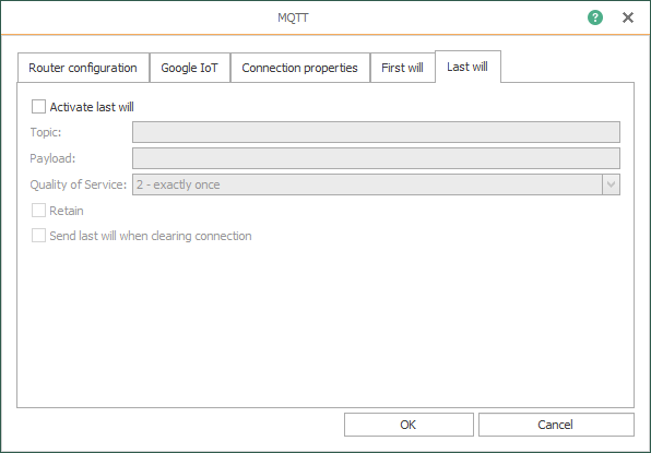 OPC Router – Last will