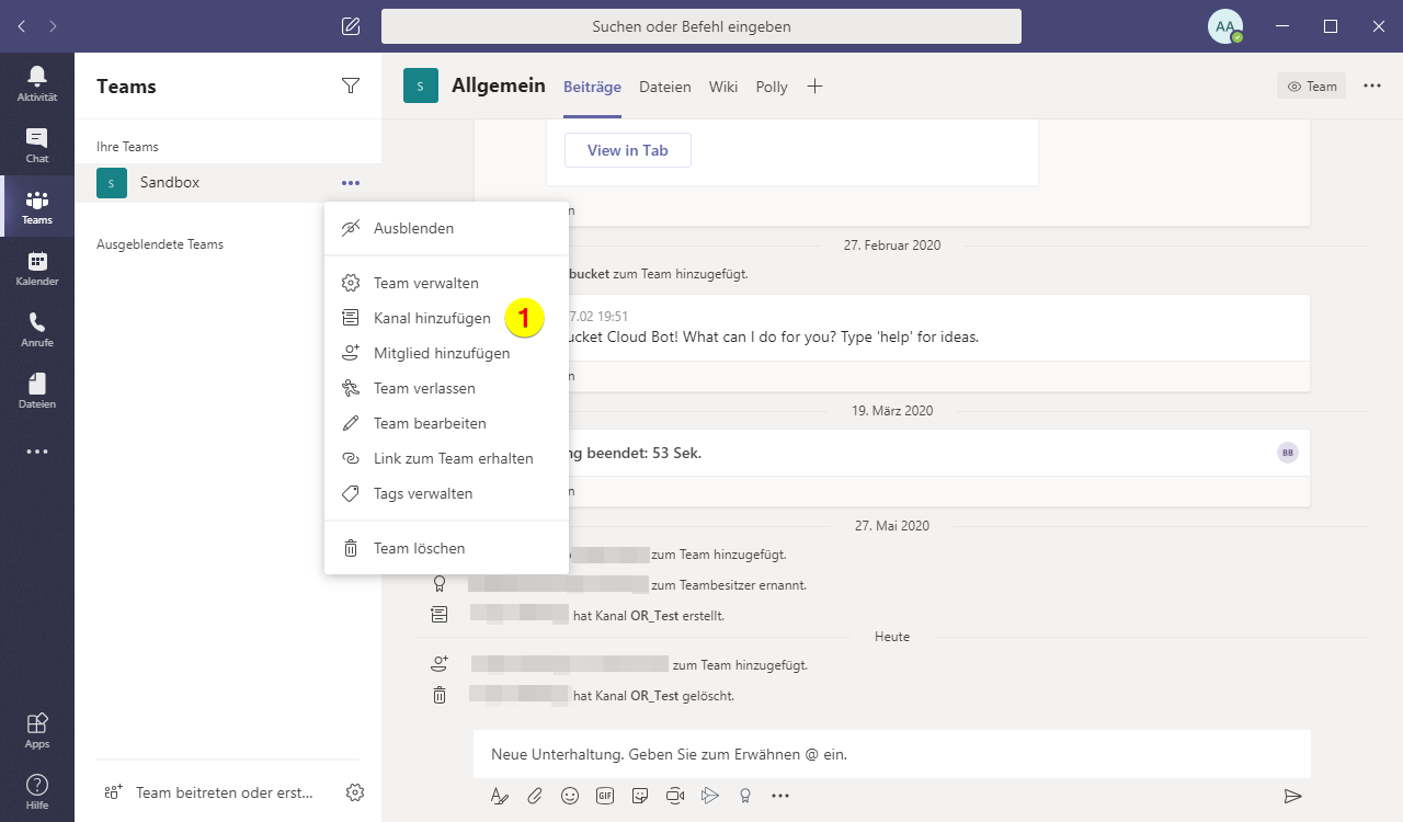 Screenshoot Microsoft Teams