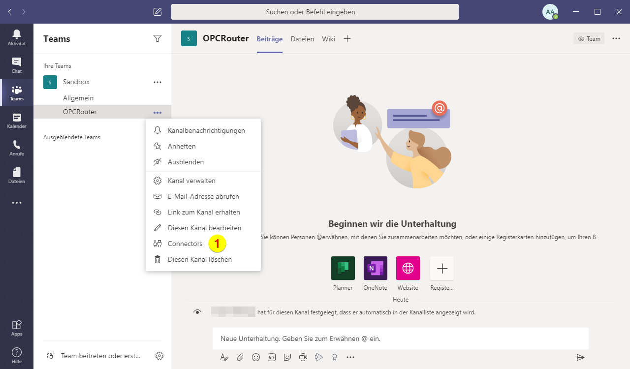 Screenshoot Microsoft Teams