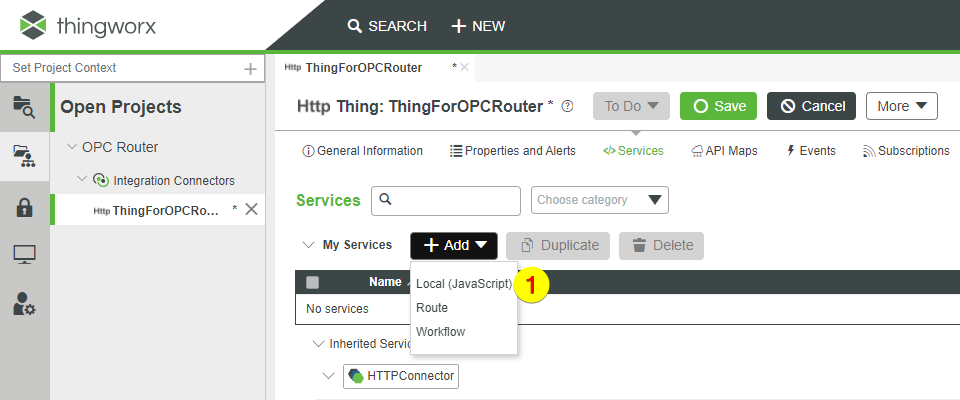 Thingworx Services