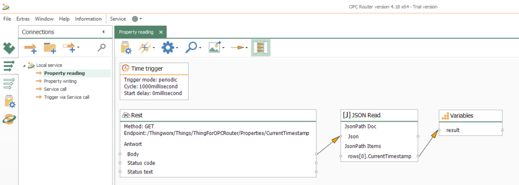 Thingworx connection configuration: