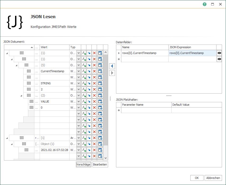 OPC Router JSON-Übersicht