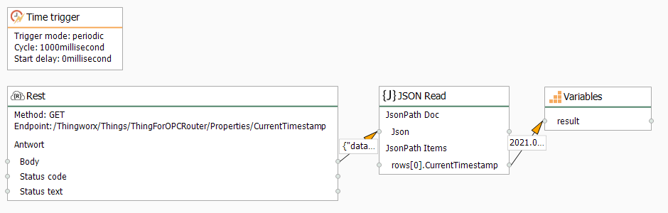 OPC Router connection at runtime:
