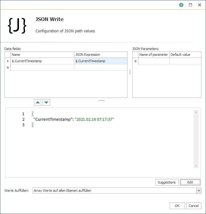 OPC Router JSON-Code