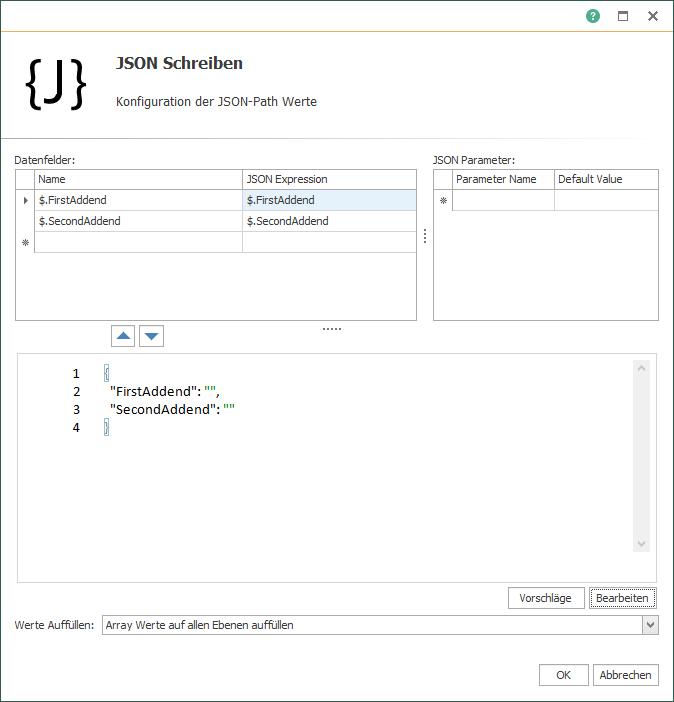 OPC Router JSON-Code (Schreiben)