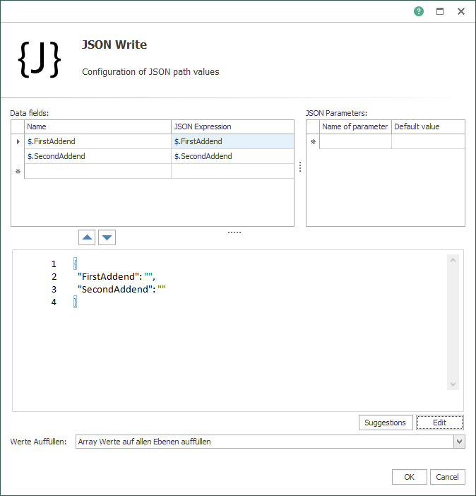 OPC Router JSON-Code (writing)